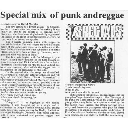 David Marples The Gateway The Specials 7 Feb 1980