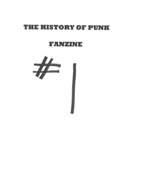 The History of Punk Fanzine 1