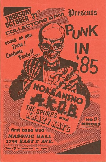 NoMeansNo poster 1985